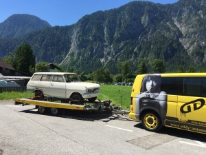 Opel Kadett A Kombi zur Restauration in Österreich abgeholt