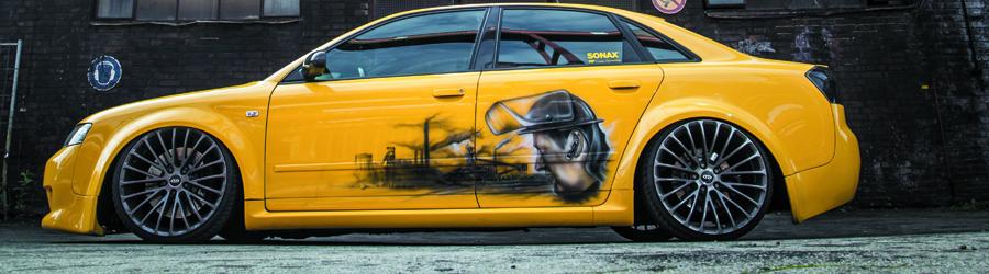 Audi A4 YellowSubA4 mit Airforce Luftfahrwerk